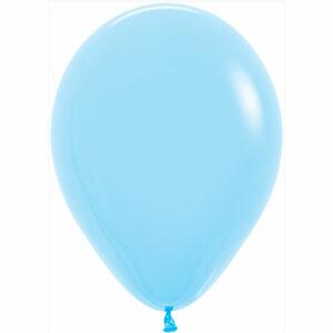 Латексный шар с гелием. Голубой пастель