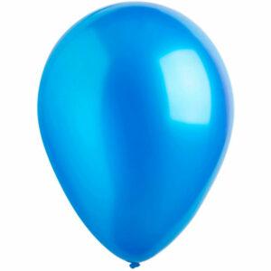 Латексный шар с гелием. Голубой металлик