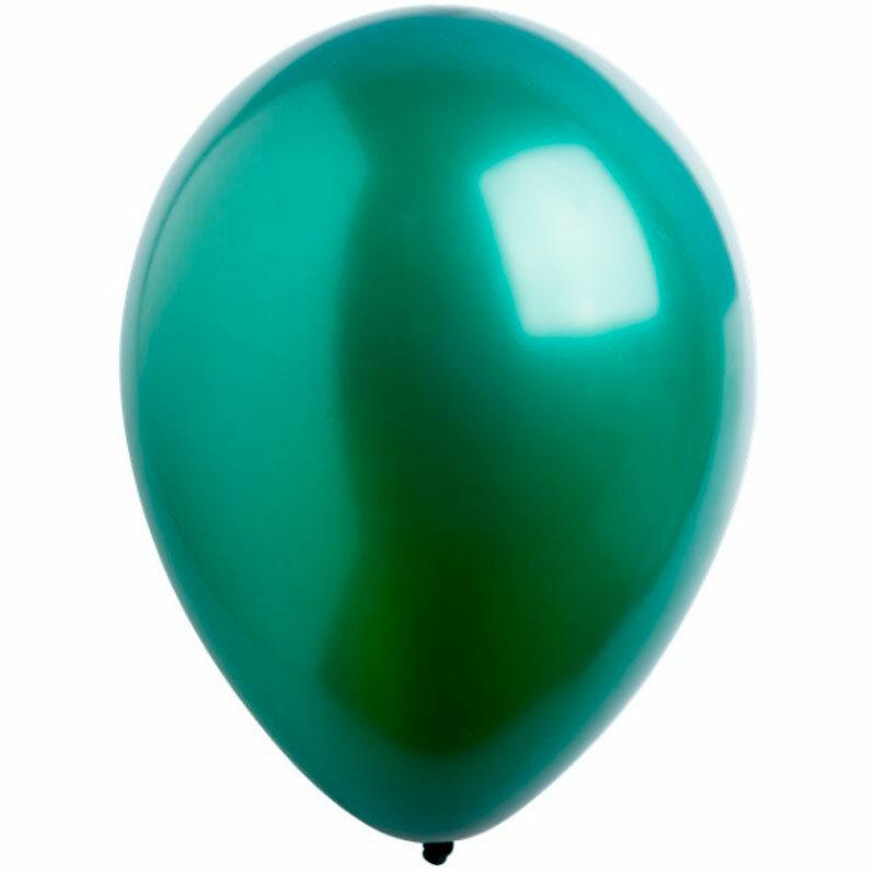 Воздушный шар зеленый металлик