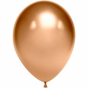 Латексный шар с гелием. Золотой хром