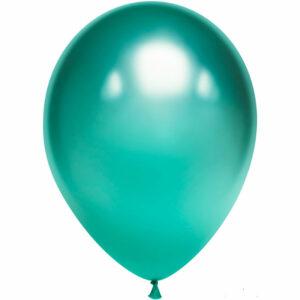 Латексный шар с гелием. Зеленый хром
