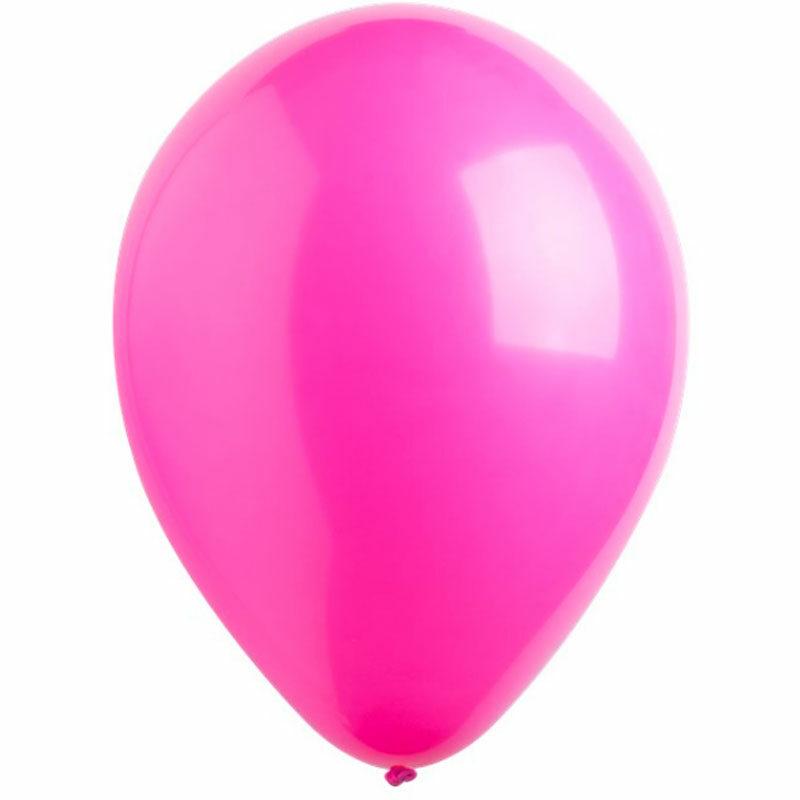 Воздушный шар ярко-розовый