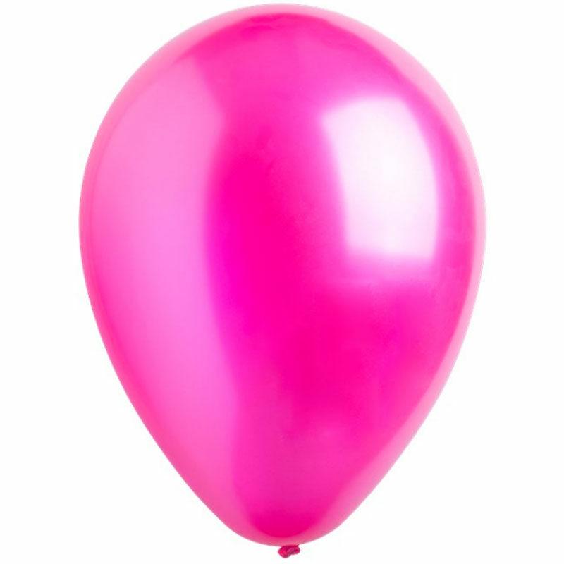 Воздушный шар ярко-розовый металлик