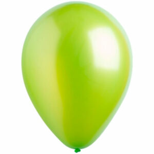 Латексный шар с гелием. Светло-зеленый металлик