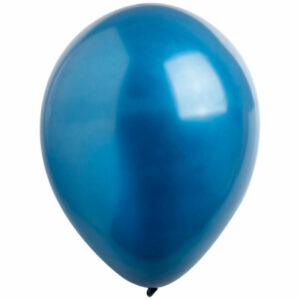 Латексный шар с гелием. Синий металлик