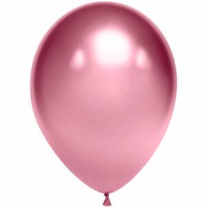 Латексный шар с гелием. Розовое золото хром