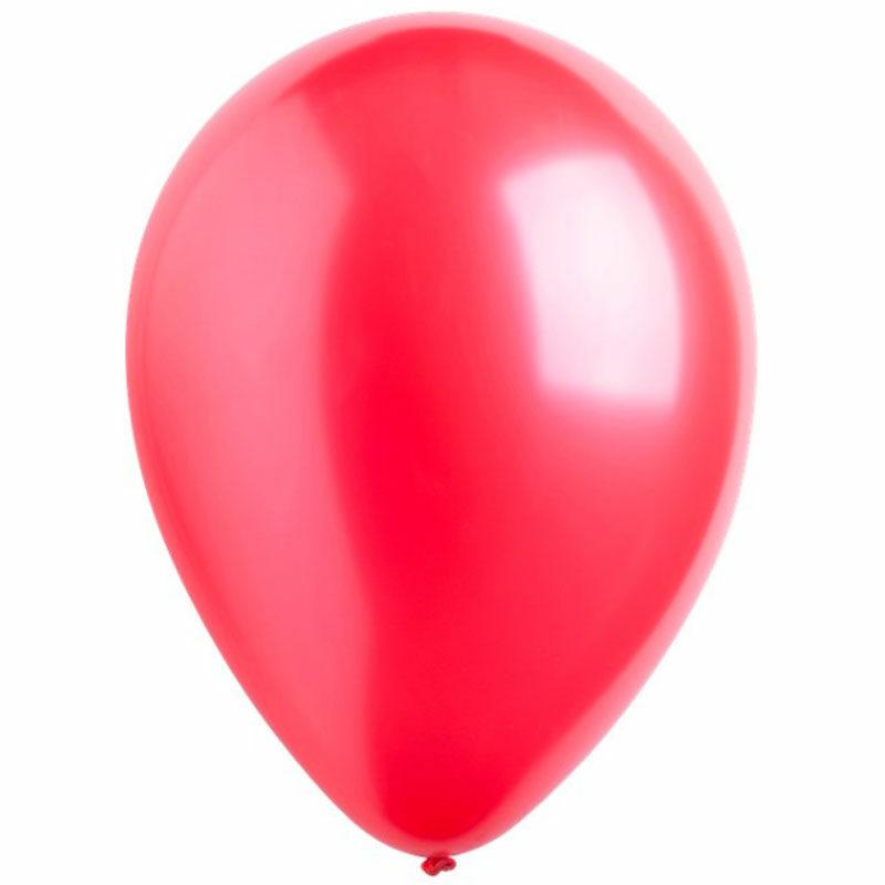 Воздушный шар красный металлик