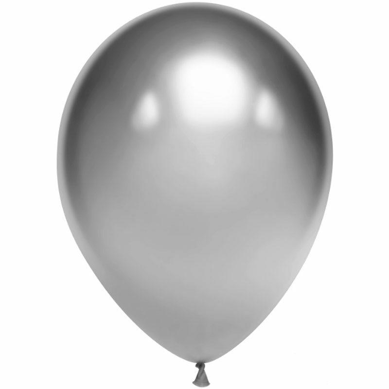 Воздушный шар серебряный хром