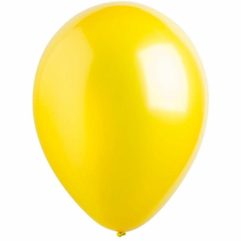 Воздушный шар желтый металлик