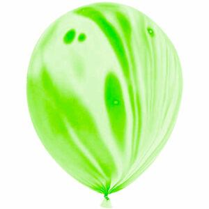 Латексный шар с гелием. Зеленый агат