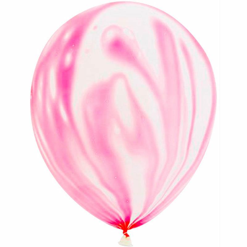 Воздушный шар розовый агат