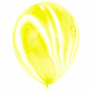 Латексный шар с гелием. Желтый агат