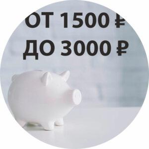 От 1500 ₽ до 3000 ₽