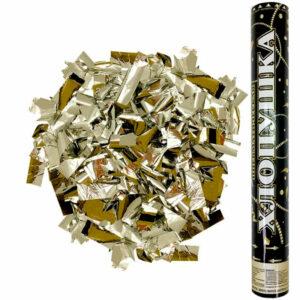 Пневмохлопушка Металлизированное конфетти, Золотой