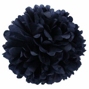Бумажный помпон. Черный (Выбор размера)