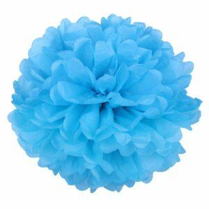 Бумажный помпон. Голубой (Выбор размера)