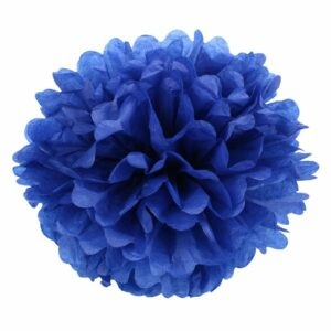 Бумажный помпон. Синий (Выбор размера)