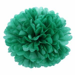 Бумажный помпон. Зеленый (Выбор размера)