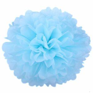 Бумажный помпон. Светло – голубой (Выбор размера)