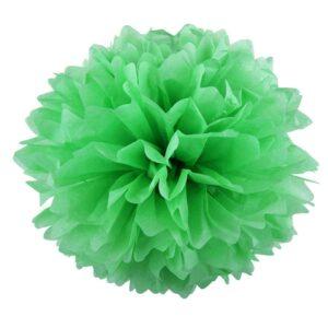 Бумажный помпон. Светло – зеленый (Выбор размера)