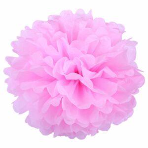 Бумажный помпон. Светло – розовый (Выбор размера)