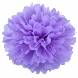 Бумажный помпон. Светло – фиолетовый (Выбор размера)