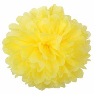 Бумажный помпон. Светло – желтый (Выбор размера)