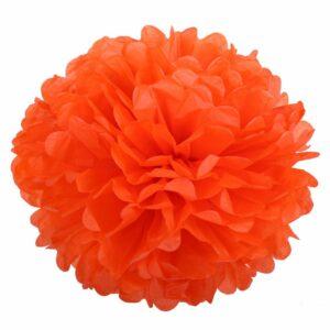 Бумажный помпон. Оранжевый (Выбор размера)