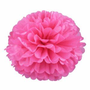 Бумажный помпон. Розовый (Выбор размера)