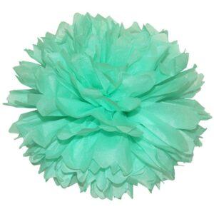 Бумажный помпон. Tiffany Blue (Выбор размера)