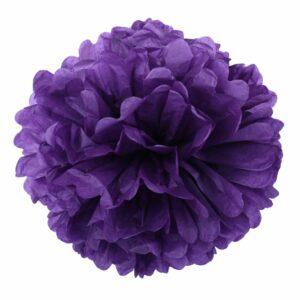 Бумажный помпон. Фиолетовый (Выбор размера)