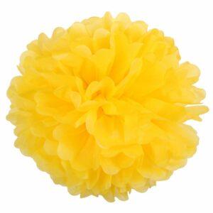 Бумажный помпон. Желтый (Выбор размера)